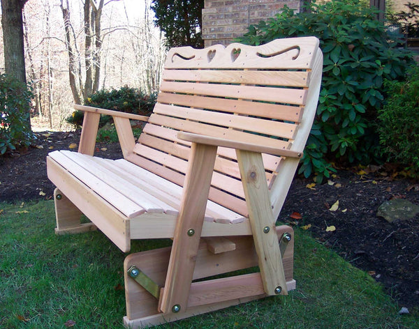Red Cedar Glider - Country hearts - Creekvine Designs - 4ft, 5ft, 6ft