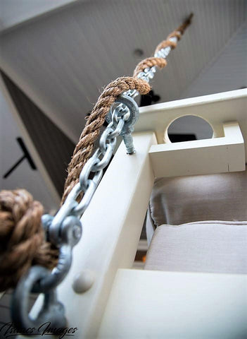 Hanging Chains and Rope porch swing