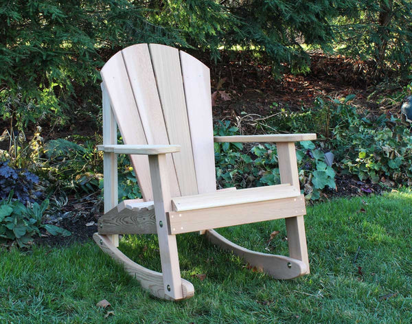 High back Rocking Chair - Red Cedar - Creekvine Designs