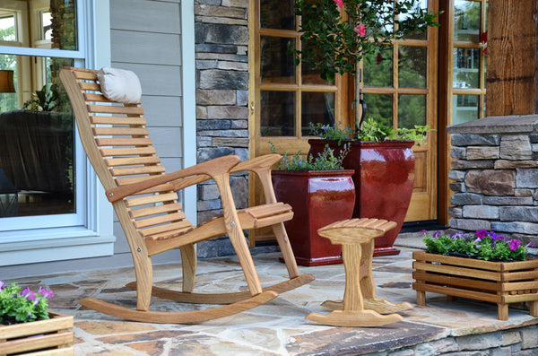 High Back Rocking chair - White Oak - Sittin' Easy