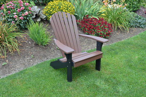 Poly Adirondack Chair (Black Frame) - A&L Furniture