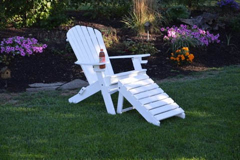 Amish A&L - Folding Poly Adirondack Chair (with cupholders)