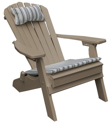 Amish A&L Furniture - Folding Poly Adirondack Chair