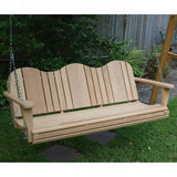 Classic Adirondack - Cypress Porch Swing - JR Ables