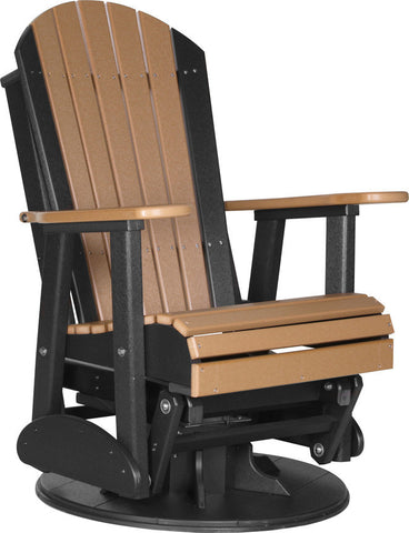 Amish Luxcraft - Poly Adirondack Outdoor Swivel Glider Chair (Recycled plastic)