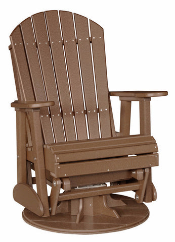 Luxcraft Poly Adirondack Swivel Glider Chair (Recycled plastic)
