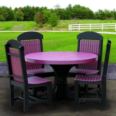 Luxcraft Poly 5 Piece Dining Set - Round Table & Dining Chairs