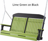 Luxcraft Classic Highback - Poly Porch Swing (Recycled Plastic)
