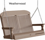 Luxcraft Classic Highback Poly Porch Swing (4,5,6ft)