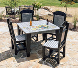 Luxcraft Poly 5 Piece Dining Set - Island End Table & 4 Chairs