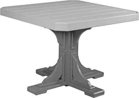"Luxcraft 41"" Dining Height Poly Square Table (with umbrella hole)"