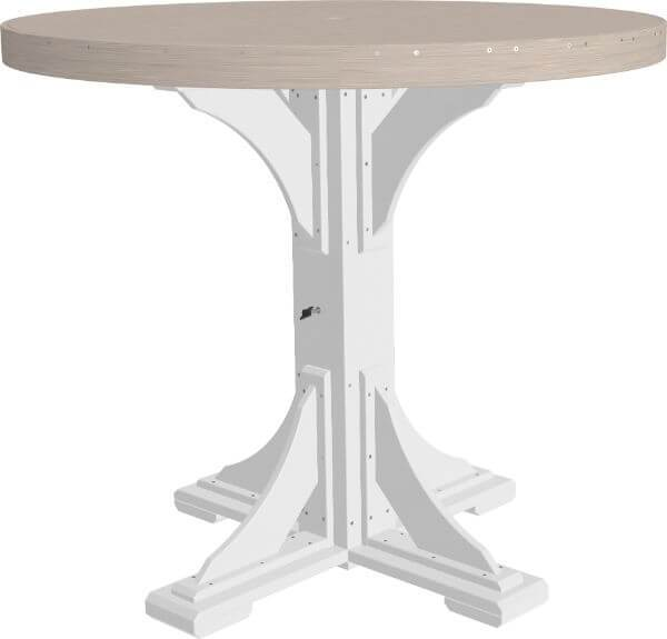 Luxcraft 4' Bar Height Poly Round Table (with umbrella hole)