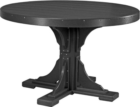 Luxcraft 4' Dining Height Poly Round Table (with umbrella hole)