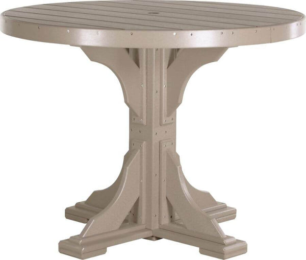 Luxcraft 4' Counter Height Poly Round Table (with umbrella hole)
