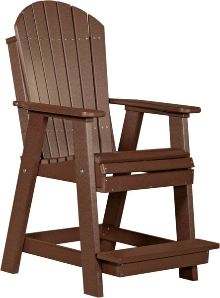 Luxcraft Amish Poly Adirondack Balcony Chair & Table Set - Counter Height