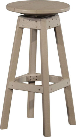 Amish Luxcraft Poly Swivel Bar Stool - Bar Height