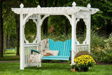 Luxcraft Vinyl and Poly Pergola Style Swing Stand - White