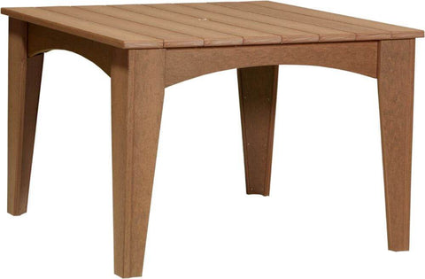 "Luxcraft 44"" Poly Island Square Dining Table (with umbrella hole)"