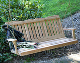 Countryside Red Cedar Wooden Porch Swing - Creekvine Designs - 2ft, 4ft, 5ft, 6ft