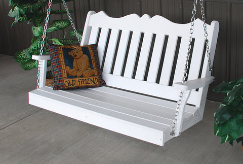 Amish A&L Furniture - Royal English Poly Porch Swing - 4ft, 5ft