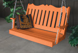 Amish A&L Furniture - Royal Poly Porch Swing - 4ft, 5ft