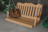 Royal English Porch Swing - Recycled plastic- A&L Furniture- 4ft, 5ft