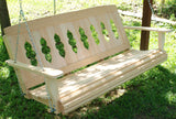 Riverboat Cypress Porch Swing - 4ft, 5ft - JR Ables