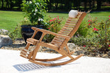 Reclining Rocking Chair - White Oak - Sittin' Easy