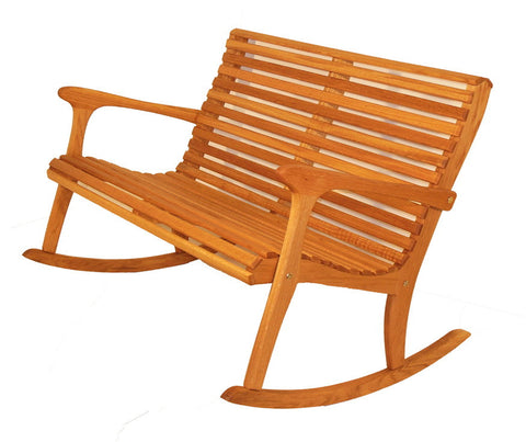 Rocking Chair Settee - White Oak - Sittin' Easy