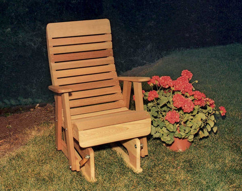 2ft Red Cedar Glider Chair - Twin Ponds - Creekvine Designs