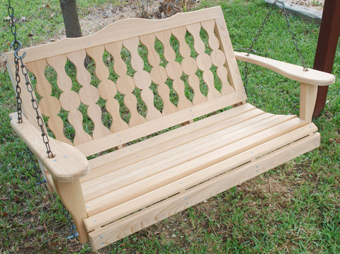 Victorian Cypress Porch Swing - 4ft, 5ft - JR Ables