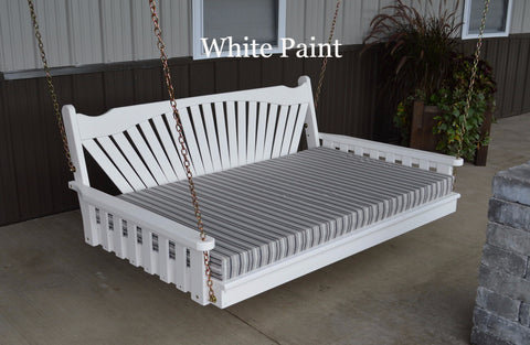 A&L Furniture- White Swing bed