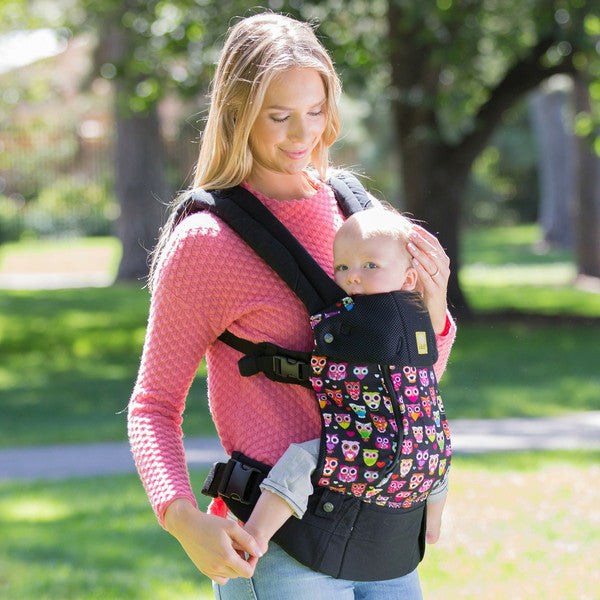 f0c8f6d5ba8 Lillebaby Complete ALL SEASONS Baby Carrier - Black with Owls ...