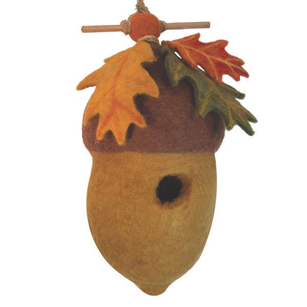 Felt Birdhouse - Pin Oak Acorn Handmade and Fair Trade
