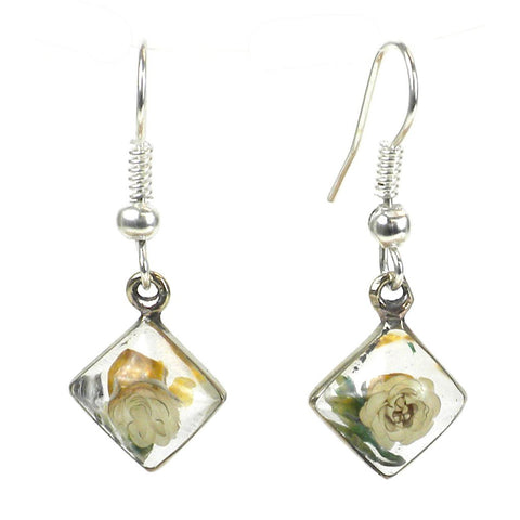 A Beautiful Pair of Nahua Flower Rhombus Earrings