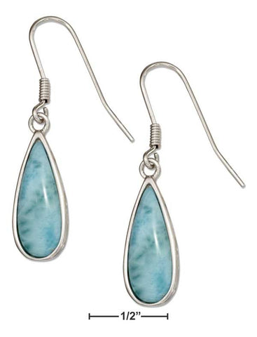 Beautiful  Sterling Silver and Larimar Earrings