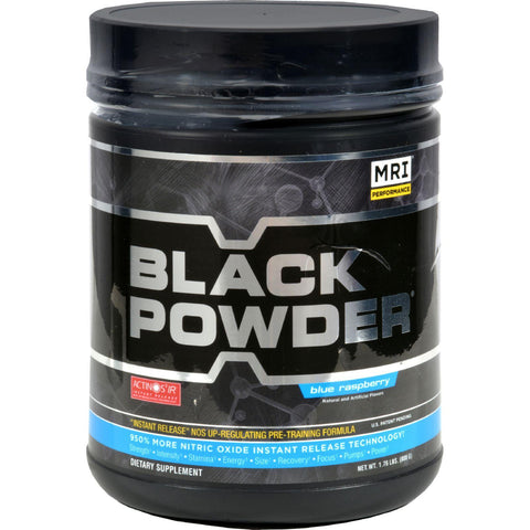 Mri Black Powder Pre-training Formula Blue Raspberry - 1.7 Lbs