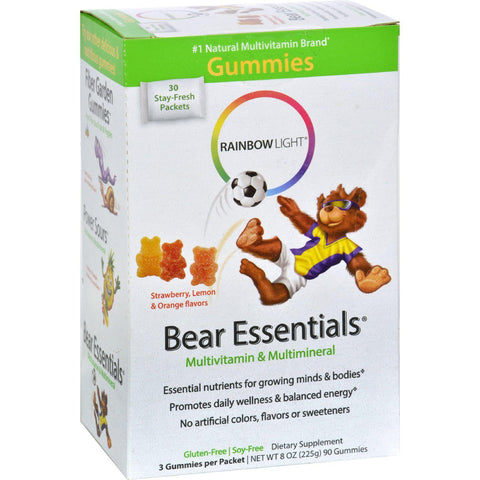 Rainbow Light Gummy Bear Essentials Multivitamin Multimineral Fruit - 30 Packets