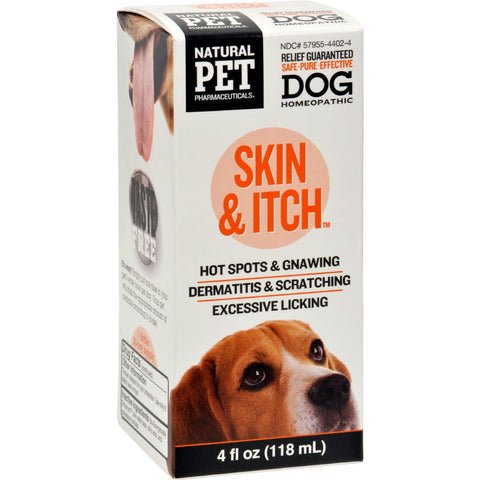 King Bio Homeopathic Natural Pet Dog - Skin And Itch - 4 Oz