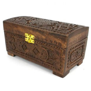 Mango Wood Hand Carved Chest