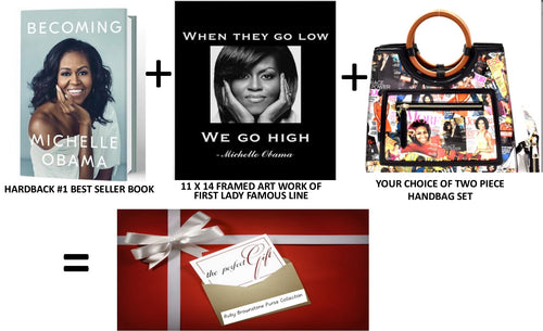 Michelle Obama Two Piece Handbag Collection Set