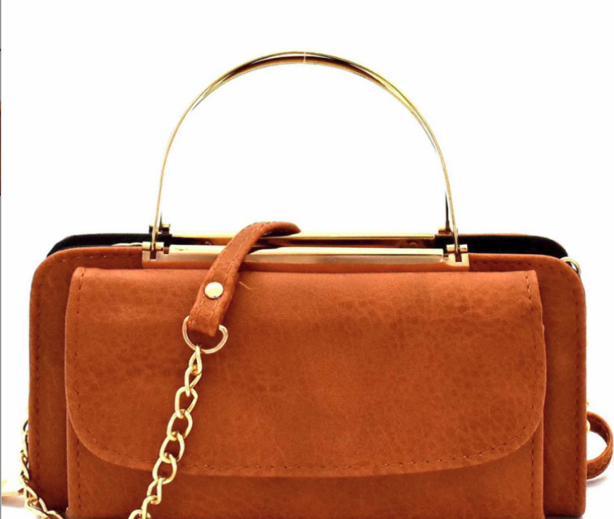 Marla Metal Handle Crossbody