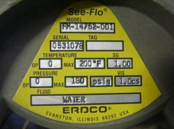 "2"" ERDCO Flow Rate Indicator NSN:6680-01-128-6273 P/N:FM-14762-001"