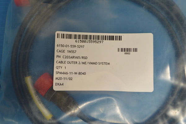 Cable Assembly, E Special Purpose, for use on IVMMD-2, NSN:6150-01-559-5297 P/N:C203ARV65