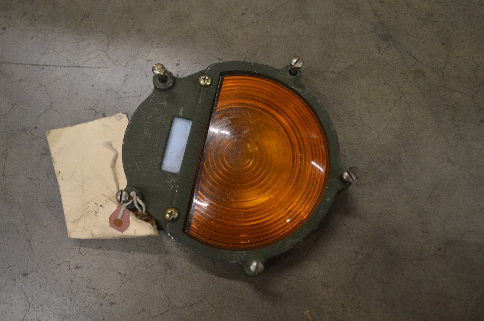 "Amber 4.5"" Light Reflector NSN:6260-01-558-9867 P/N:B472A"
