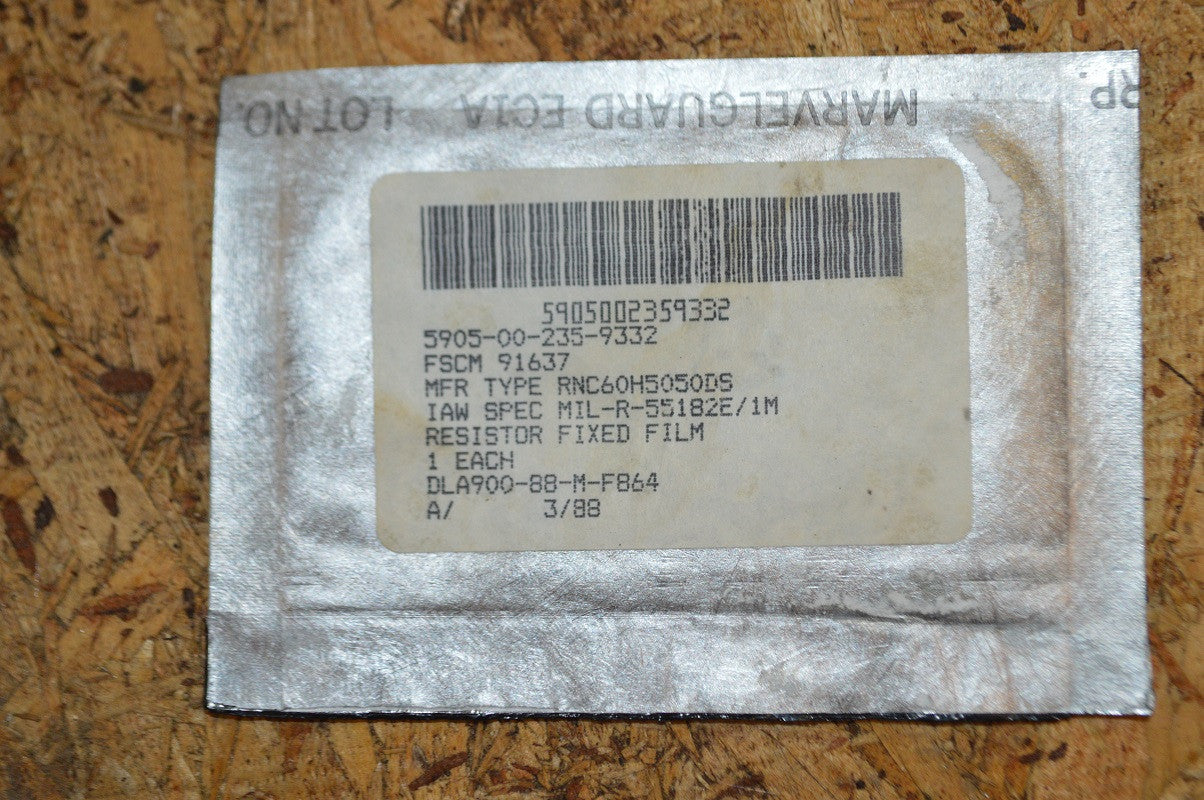 Film Fixed Resistor NSN 5905-00-235-9332 P/N: RNC60H5050DS