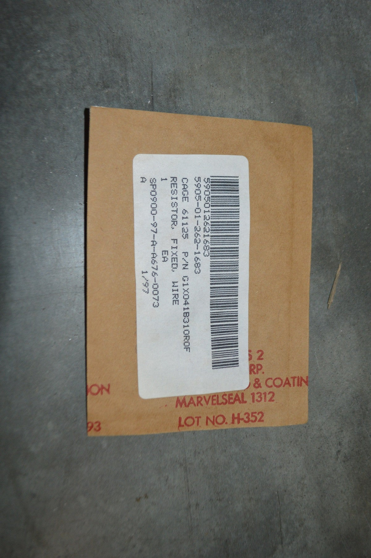 Fixed Wire Resistor NSN:5905-01-262-1683 P/N:J350P3100A