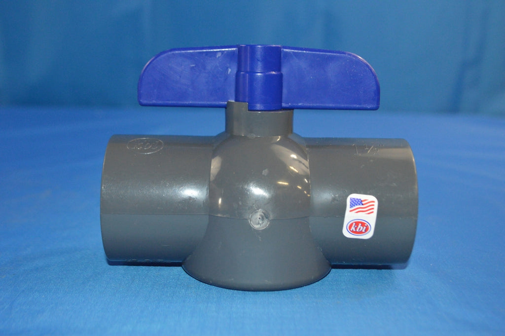 LOT OF 8 1 1/2 INCH PVC BALL VALVE  KING BROS   P/N: EBVG-1500-SV