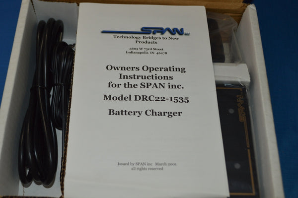 Battery Charger NSN:6130-01-481-5452 P/N:DRC22-1535U
