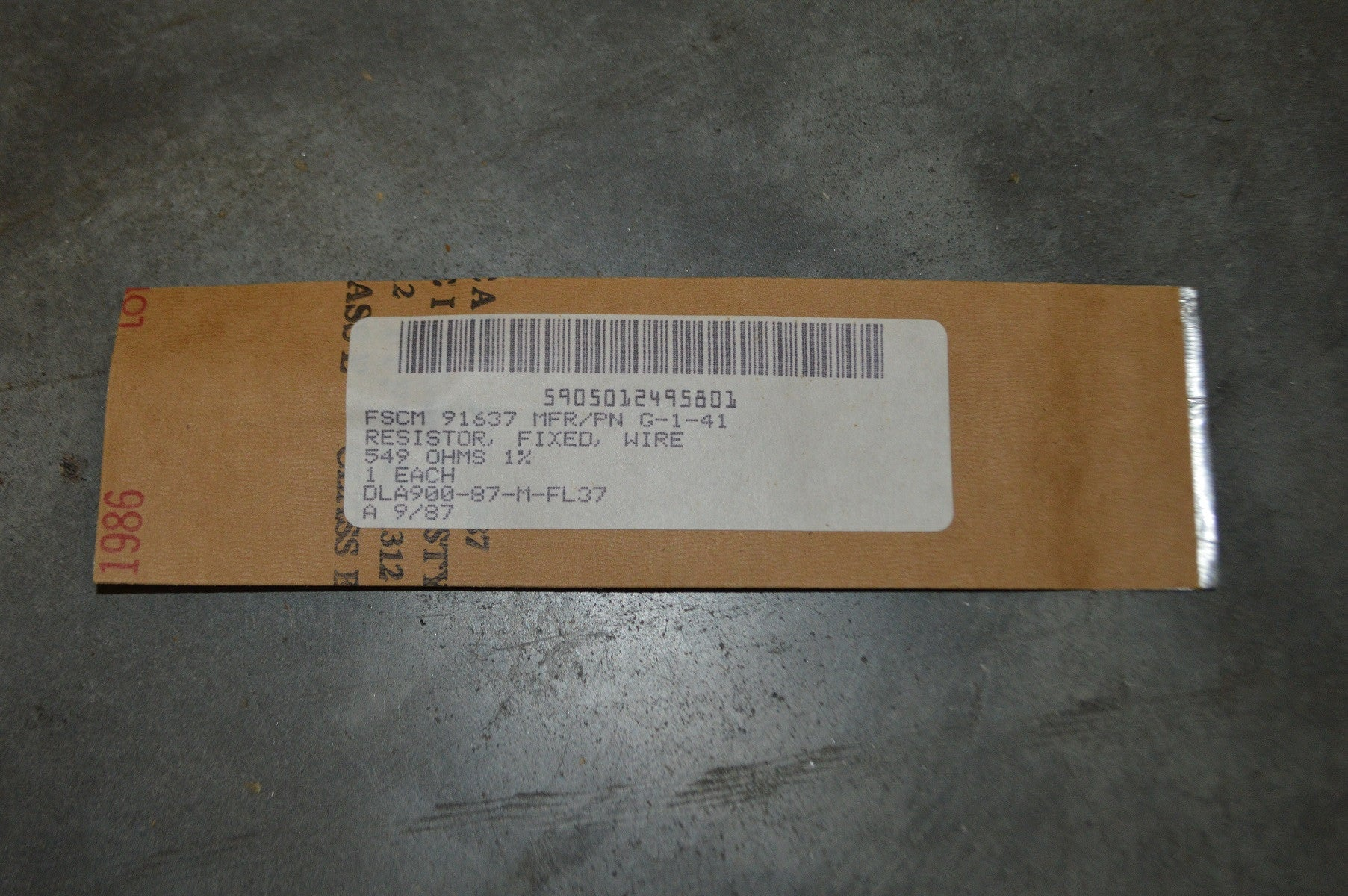 Fixed Wire Resistor NSN:5905-01-249-5801 P/N:J350P5490A